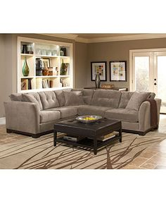 Elliot Fabric Sectional Sofa Collection - - Macy's- in dark gray for our family room