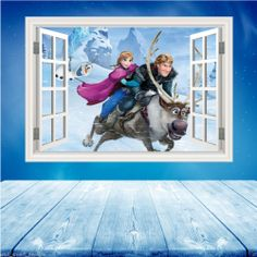 Details About Full Colour DISNEY FROZEN Wall Art Sticker Boys Girls Decal  Transfer Mural 2 Part 13
