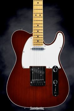 """With any kind of luck, this will someday be """"My old red guitar"""" - Fender Custom Shop Bound Custom Deluxe Telecaster Special (Violin Burst)   Sweetwater.com"""