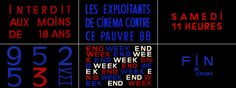 The typography of Jean-Luc Godard