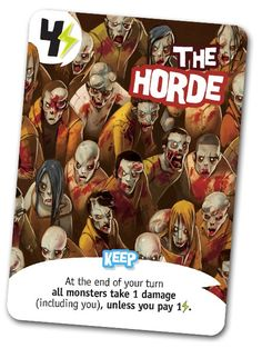 King of Tokyo: The Horde Promo Card