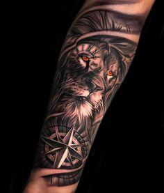 30 Most Beautiful Tattoo Ideas - Page 13 of 31 - Tattoo Designs Lion Forearm Tattoos, Lion Head Tattoos, Forarm Tattoos, Mens Lion Tattoo, Dope Tattoos, Forearm Tattoo Men, Leg Tattoos, Lion Tattoos For Men, Lion Arm Tattoo
