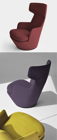 Now available at HL: The new My Turn by Bensen! #seating #swivel #armchair #hauteliving #chicago