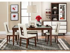 Slumberland Furniture  Aruba Collection  Walnut Room Package Delectable Slumberland Dining Room Sets Design Inspiration