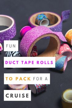 Make everything you touch feel magical with this roll of mermaid duct tape by Duck Tape brand. This adorable roll of pineapple Duck Tape brand duct Cruise Critic, Anchor Pattern, Suitcase Packing, Packing For A Cruise, Luggage Labels, Duck Tape, Suitcases, Fun Prints, It's Easy