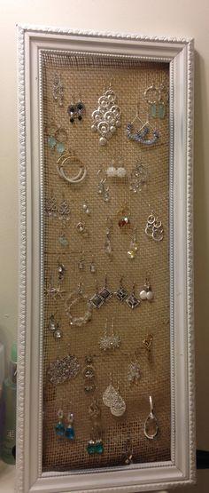 Hanging earring holder!!!!