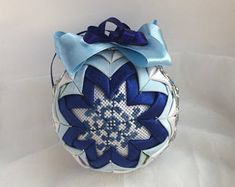 Blue Xmas baubles fabric quilt tree toy Christmas ornament ball New year gifts Winter Holiday decor Christmas gift Christmas tree ball