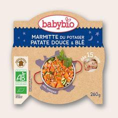 Assiette Bonne Nuit - Marmitte du Potager, Patate Douce & Blé - dès 15 mois - Produit en France - Babybio