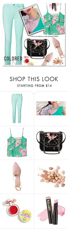 """Spring Trend: Colored Denim"" by samra-bv ❤ liked on Polyvore featuring Ralph Lauren, MANGO, STELLA McCARTNEY, Summit, Too Faced Cosmetics, Supergoop!, coloredjeans, polyvorecontest, polyvorefashion and colchicojewelry"