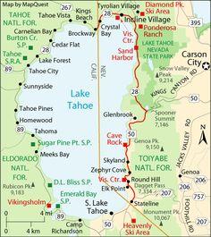 Lake Tahoe Map | south lake tahoe embassy suites reno to south lake tahoe