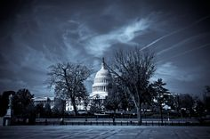 View of United States Capitol Building from steps of the Supreme Court Building. -@PhotoByJonathan