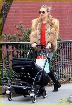 Sienna Miller: Fur Coat Stroll with Marlowe!