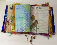 Ro Bruhn Fabric Book - Cloth Paper Scissors. You could make a wish book for kids. I may never do this but I love it!