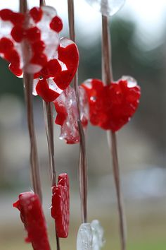 Melted Bead Craft - Valentine's Day Wind Chimes - No Time For Flash Cards Valentines For Kids, Valentine Day Crafts, Valentine Heart, Preschool Crafts, Fun Crafts, Preschool Ideas, Melted Bead Crafts, Craft Fair Displays, Display Ideas