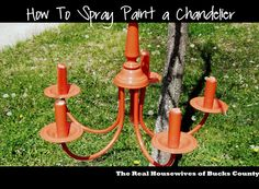 How to Spray Paint a Chandelier - East Coast Creative Blog