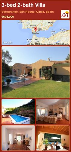 3-bed 2-bath Villa in Sotogrande, San Roque, Cadiz, Spain ►€695,000 #PropertyForSaleInSpain