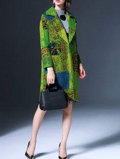 QinPei.er   Multicolor High Temperature Setting Long Sleeve Coat