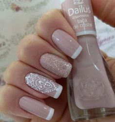 27 best ideas for nails art french manicure ongles Manicure And Pedicure, Gel Nails, Acrylic Nails, Nail Polish, French Nail Designs, Nail Art Designs, Cute Nails, Pretty Nails, Ongles Beiges