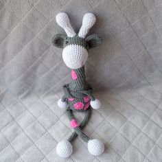 A teething baby needs a friend and this crochet teething rattle is it!. Your little one will simply love this Giraffe. It is slender, flexible, soft to the touch and soothing on the gums. It is easy to grasp which is perfect for babies that are learning to use their tiny hands.
