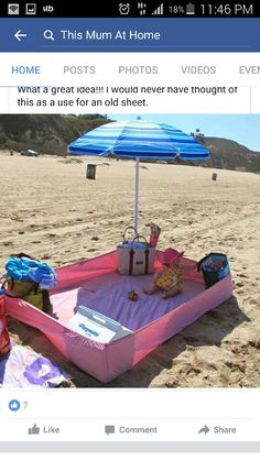 Good idea for when the baby gets tired.