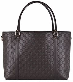 Gucci Women's Brown Leather GG Guccissima Joy Handbag Tote * To view further for this item, visit the image link.