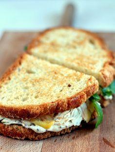 turkey and apple sandwich - Recetas - Apple Sandwich, Sandwich Recipes, Panini Sandwiches, Delicious Sandwiches, Tacos, Cooking Recipes, Healthy Recipes, Cooking Time, Healthy Food