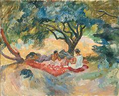 Under the tree - Pyotr Konchalovsky