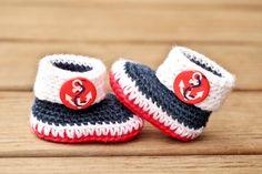 Crochet Baby Booties  Anchor Nautical Baby Boots  by Raspberriez