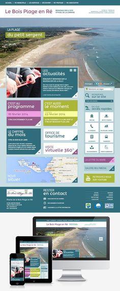 Refonte du site web de la mairie du Bois-Plage-en-Ré (17) #Webdesign #Responsive #Mairie #Ville #Colterr : http://www.leboisplage.com