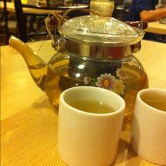 Pot of jasmine green tea