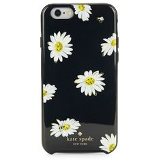 Kate Spade New York Falling Daisies iPhone 6 and 6s Case (1,840 DOP) ❤ liked on Polyvore featuring accessories, tech accessories, phone case, black multi and kate spade
