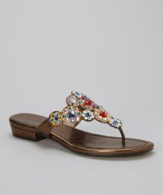 Another great find on #zulily! Gold & Red Tetris Sandal #zulilyfinds