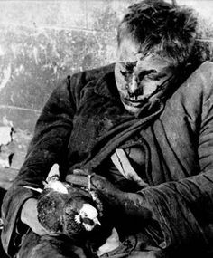 This caught my attention because it's a Russian soldier executed by Nazis. In his hands he holds a dove.