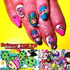 Tokidoki nail artbyBritney Tokyo☆