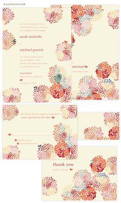 Milkmaid Press Kaleidoscope invitations