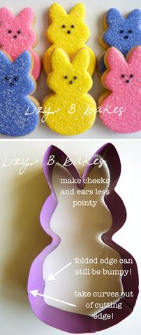 Cute: How to make Peeps cookies for Easter!  This is the best Pinterest Board! - Cookie Tips & Tutorials  from Pretty Sweetz
