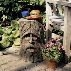 Found it at Wayfair - The Odin Tree Stump Statue Table
