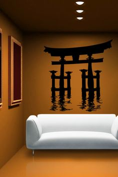 Japanese Waterway wall decal by WALLTAT.com