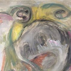 Entgleisung (they are here) ⠀ ⠀ ...head shot of giant emoji⠀ ⠀ #expressionism #abstractexpressionism #actionpainting #art #artist #artnews #contemporaryart #contemporaryartist #symbolism #kölnkunst #artgallerie #drawing #painter #mixedmedia #zeitgenössischekunst #künstler #acryl #magic #artismagic #mystic #figurative #figurativeart #figurativeartist