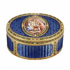 Antique Gold and Enamel Snuff Box, France