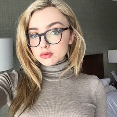 Peyton List showed off her stylish tortoiseshell glasses frames in a chic new Instagram selfie. Her turtleneck sweater is so cozy and glam too!