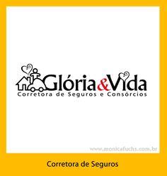 Identidade Visual para a Corretora de Seguros Glória & Vida, São Paulo, capital.