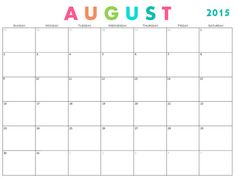 printable monthly calendar template for august 2016 december 2017
