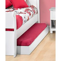 Trundles create more space in a small or big bedroom.