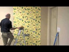 This video explains how to hang wallpaper brought to you by Mahone's Wallpaper Shop, your decorating destination for designer wallpapers and fabric. How To Hang Wallpaper, Home Improvement, New Homes, Walls, Diy Crafts, Country, Tips, Youtube, House