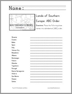 caribbean lands in abc order worksheet great cross curricular activity for grades 3 and up. Black Bedroom Furniture Sets. Home Design Ideas