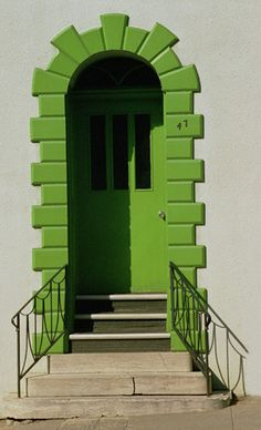 Green Door - and notice the house numbers going up!