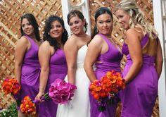 97467b3dc15 burnt orange bridesmaid dresses - Google Search Orange Purple Wedding