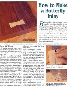 #1302 How to Make Butterfly Inlay - Finishing and Decoration Tips and Techniques Joinery Tips, Jigs and Techniques