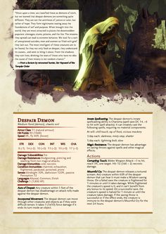DnD 5e Homebrew — valldoesdnd: This has to be my best one yet.